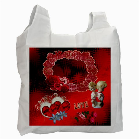 Red Love Recycle Bag By Ellan   Recycle Bag (one Side)   Ryarfyjbo3fp   Www Artscow Com Front