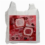 Live every Day kisses recycle bag - Recycle Bag (One Side)
