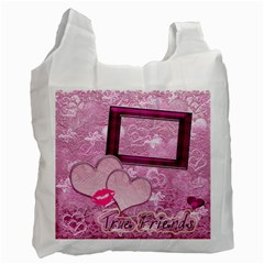 True Friends Pink Heart Recycle Bag 2 Sides By Ellan   Recycle Bag (two Side)   Frk487k8iacb   Www Artscow Com Front