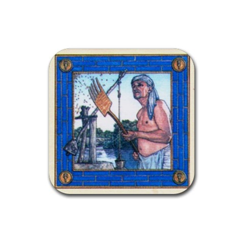 Tigris Blu By Dario   Rubber Coaster (square)   Wmnwede4yt4v   Www Artscow Com Front