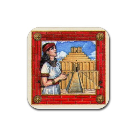 Tigris Red By Dario   Rubber Coaster (square)   80svsc8wi3hz   Www Artscow Com Front