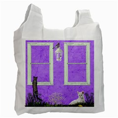 Cat Fun Reusable Bag By Kim White   Recycle Bag (two Side)   8jmfc2dv8pwe   Www Artscow Com Front