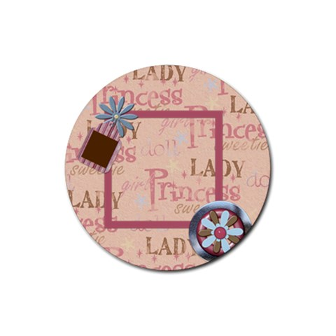 Abc Skip Round Coaster 1 By Lisa Minor   Rubber Round Coaster (4 Pack)   Lyh05tl54fxc   Www Artscow Com Front