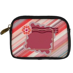Red Flower Camera Leather Case By Daniela   Digital Camera Leather Case   Ocy23wr2j269   Www Artscow Com Front