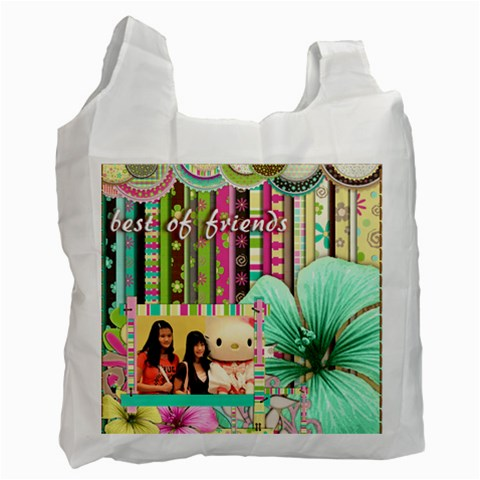 Best Of Friends / Recycle Bag   One Side By Angel   Recycle Bag (one Side)   Wjnslo6p5pfm   Www Artscow Com Front