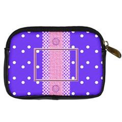 Purple Camera Leather Case By Daniela   Digital Camera Leather Case   Svbw8oxkjd35   Www Artscow Com Back