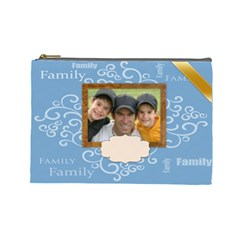 Family Bag By Joely   Cosmetic Bag (large)   Rg7p756ngee4   Www Artscow Com Front
