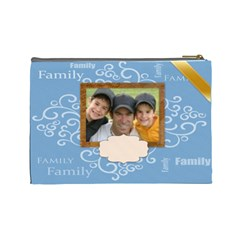 Family Bag By Joely   Cosmetic Bag (large)   Rg7p756ngee4   Www Artscow Com Back