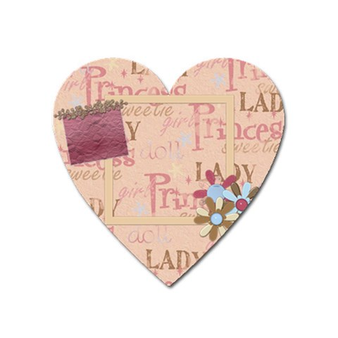 Abc Skip Heart Magnet 1 By Lisa Minor   Magnet (heart)   Vbbolnkhl3tn   Www Artscow Com Front