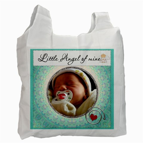 Little Angel Of Mine Boy Recycle Bag By Lil    Recycle Bag (one Side)   Dyulx3nym6eq   Www Artscow Com Front