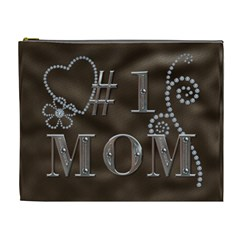 #1 Mom Xl Cosmetic Bag By Lil    Cosmetic Bag (xl)   3wyvelgaigdt   Www Artscow Com Front