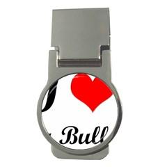I-Love-My-Bulldog Money Clip (Round)