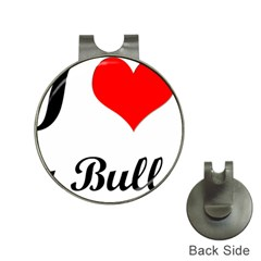 I Love My Bulldog Golf Ball Marker Hat Clip by adriantesting