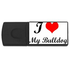 I Love My Bulldog Usb Flash Drive Rectangular (4 Gb)