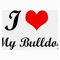I Love My Bulldog Glasses Cloth (large)