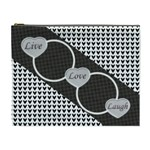 Live, Love, Laugh XL cosmetic bag - Cosmetic Bag (XL)