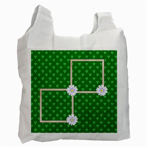 Green Recycle Bag By Elena Petrova   Recycle Bag (one Side)   Ibayntivzwkn   Www Artscow Com Front