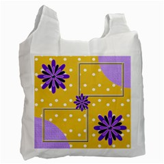 Purple Flower Recycle Bag By Daniela   Recycle Bag (two Side)   6gefrlnah09a   Www Artscow Com Front