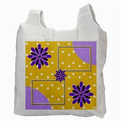 Purple Flower Recycle Bag By Daniela   Recycle Bag (two Side)   6gefrlnah09a   Www Artscow Com Back