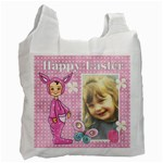 Pink Happy Easter 1 - Recycle Bag (Two Side)