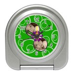Green Swirls Travel Alarm - Travel Alarm Clock