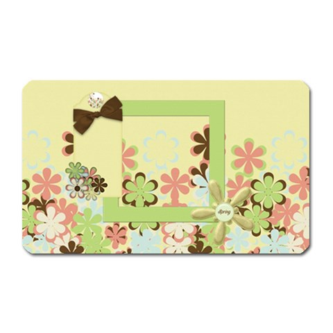 Spring Blossom Magnet 1 By Lisa Minor   Magnet (rectangular)   Ib5l25sdeno3   Www Artscow Com Front