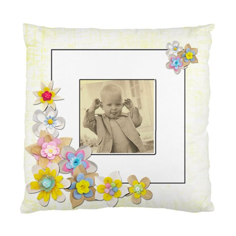 Cheeky Chappiespring Flowers Single Sided Cushion Cover By Catvinnat   Standard Cushion Case (one Side)   Ruytd1an12rr   Www Artscow Com Front