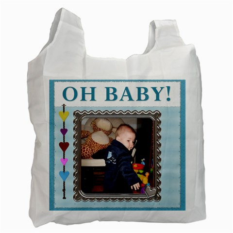 Oh Baby Boy Recycle Bag By Lil    Recycle Bag (one Side)   Qtdbjra40lqe   Www Artscow Com Front