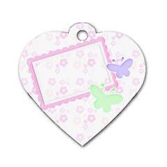Pastels Heart Dog Tag By Purplekiss   Dog Tag Heart (two Sides)   Ib44le2o867a   Www Artscow Com Back