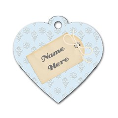 Baby Blue Heart Dog Tag By Purplekiss   Dog Tag Heart (two Sides)   Gx40js7boaxq   Www Artscow Com Back