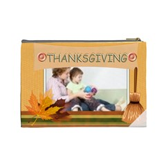 Thanks Giving Bag By Joely   Cosmetic Bag (large)   3sms5hdequbo   Www Artscow Com Back