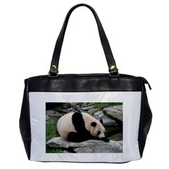 Giant Panda Water Oversize Office Handbag (one Side) by rainbowberry