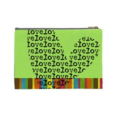 Love   Cosmetic Bag (l) By Carmensita   Cosmetic Bag (large)   Xpt1mgr10mpk   Www Artscow Com Back
