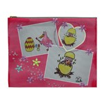 Easter Eggs and pink chicks - Cosmetic Bag (XL)
