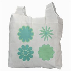 Blue Green Bag By Lillyskite   Recycle Bag (two Side)   3w6q4x18wuni   Www Artscow Com Back