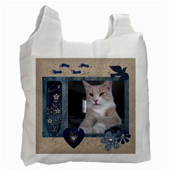 Delightful Denim 2 Sided Recycle Bag By Lil    Recycle Bag (two Side)   Dmv2q9zoiqap   Www Artscow Com Front