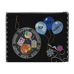 Happy Birthday Xl Cosmetic Bag By Lil    Cosmetic Bag (xl)   Tgygi81y86m6   Www Artscow Com Back