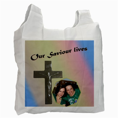 He Lives Recycle Bag By Deborah   Recycle Bag (one Side)   Wmla0cc0pz8a   Www Artscow Com Front