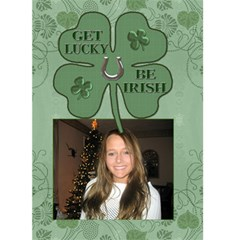 Get Lucky, Be Irish 5x7 Greeting Card By Lil    Greeting Card 5  X 7    Spllpt3wc1wj   Www Artscow Com Front Cover