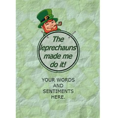 Get Lucky, Be Irish 5x7 Greeting Card By Lil    Greeting Card 5  X 7    Spllpt3wc1wj   Www Artscow Com Back Inside
