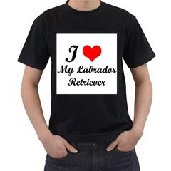 I Love My Labrador Retriever Black T Shirt by adriantesting