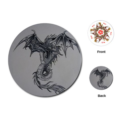Dragon By Trine   Playing Cards (round)   1n618d9nyxei   Www Artscow Com Front