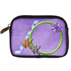 Lil  Froggie Camera Bag 1 By Lisa Minor   Digital Camera Leather Case   Syau3gfp8qhn   Www Artscow Com Front
