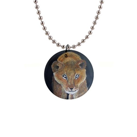 Lioness By Trine   1  Button Necklace   Fnr288a9e8x8   Www Artscow Com Front