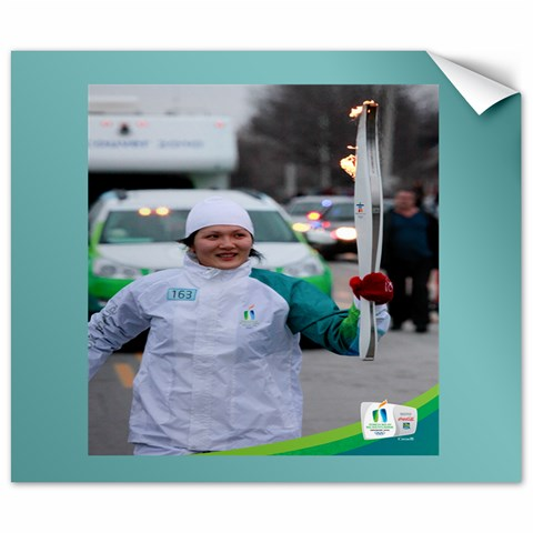 Avi At 2010 Vancouver Olympic Torch Relay By Lien Chao   Canvas 20  X 24    Eebtzwxvgmvt   Www Artscow Com 24 x20 Canvas - 1