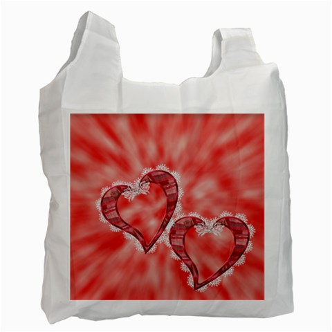 Two Hearts   Recicle Bag One Side By Elena Petrova   Recycle Bag (one Side)   Am6c1lhprm16   Www Artscow Com Front