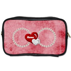 Daisy Heart   Toiletries Bag Two Sides By Elena Petrova   Toiletries Bag (two Sides)   Sie8o7nel1er   Www Artscow Com Front