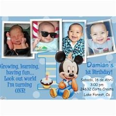 Dds Bday By Liz   5  X 7  Photo Cards   9nio1s4yol1w   Www Artscow Com 7 x5 Photo Card - 39
