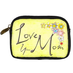 Love You Mom Camera Case By Catvinnat   Digital Camera Leather Case   5563fja7uo16   Www Artscow Com Front