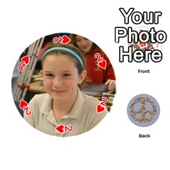 6th Grade Cards By Christy Patritti   Playing Cards 54 (round)   Va82t2netkd1   Www Artscow Com Front - Heart2